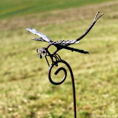 Tuteur libellule galvanisé
