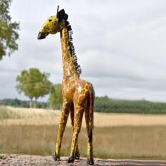 Girafe peinte main