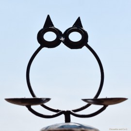 hibou bougeoir