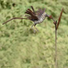 Tuteur oiseau galvanisé en vol